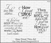 Our Daily Bread designs How Great Thou Art