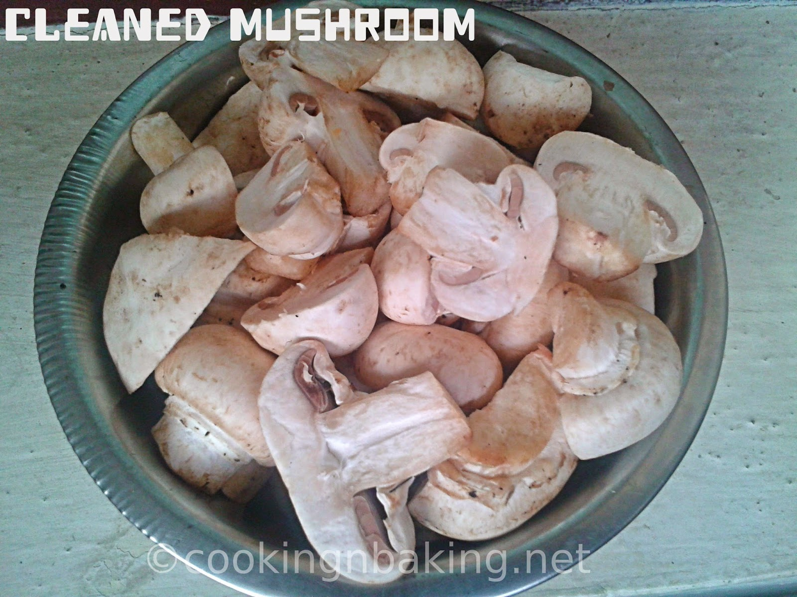 How to clean button mushroom