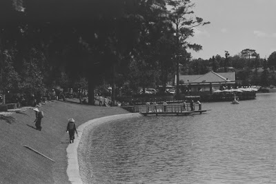 Vieille photo du lac de Da Lat