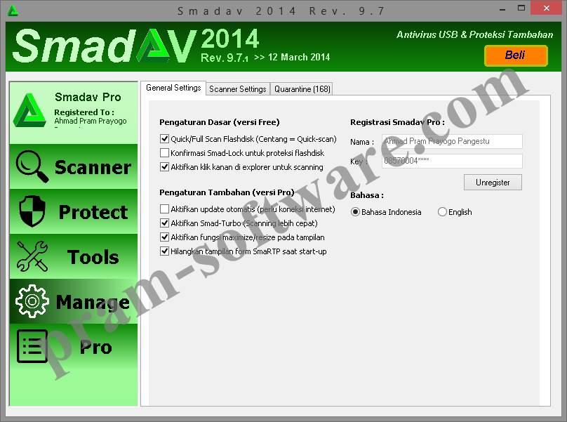 ScreenShot SmadAV 2014 Rev. 9.7 Pro