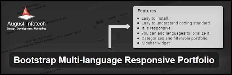 Bootstrap Multi-language Responsive Portfolio plugin