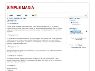 simple Mania Blogger Templates