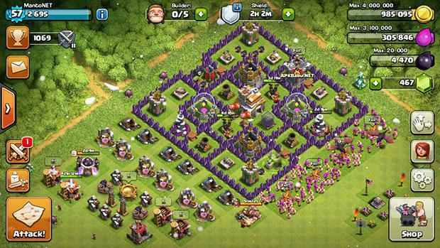 Clash Of Clans v8.67.8 Apk