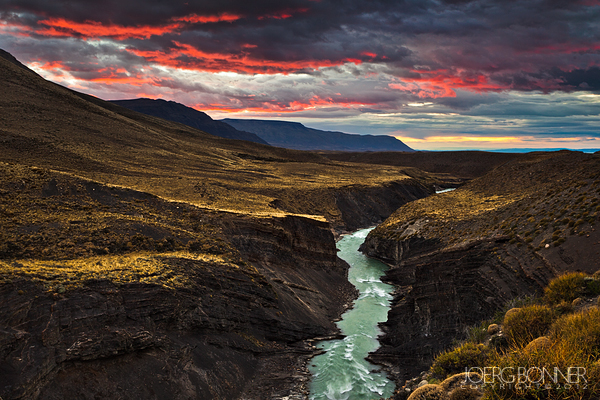 The Far Side - Sunrise shot of the Rio de las Vueltas by Joerg Bonner