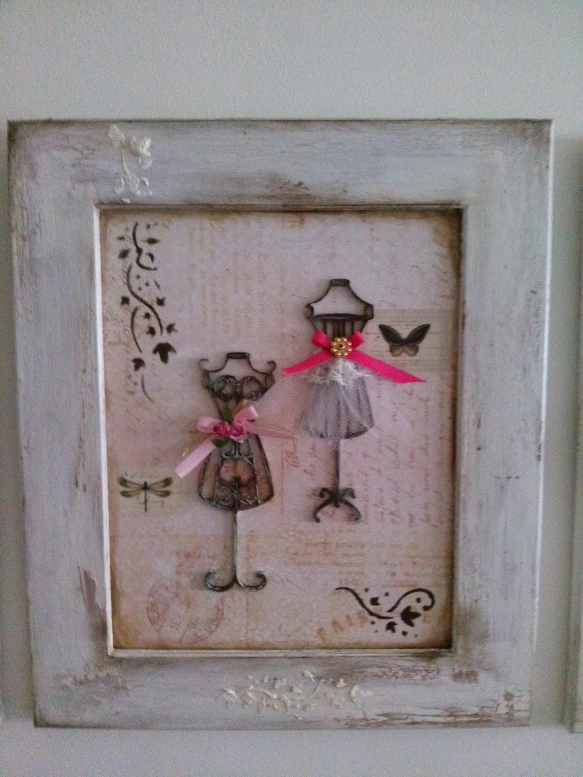 Mi galp n de arte cuadros shabby chic t cnicas mixtas de pintura decapado decoupage collage - Cuadros shabby chic ...