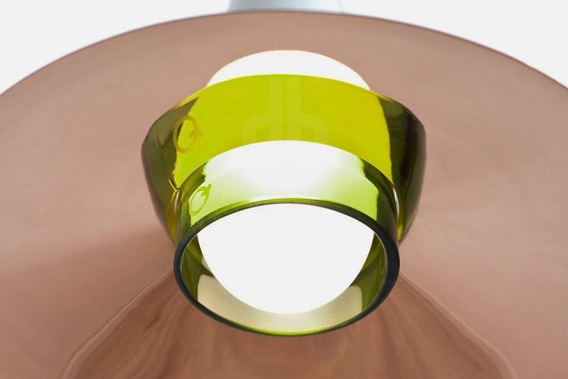 Lampes avec des Bouteilles en Verre Recyclé, L'éco-conception