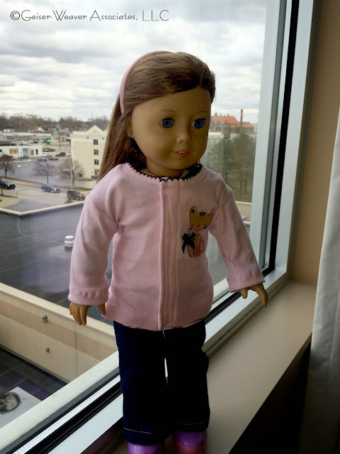Bay City visit- upcycled pink outfits by Geiser-Weaver Associates, LLC