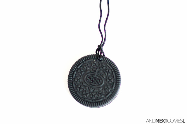 Cookie chewable necklace for kids from Canadian DIY Supply from And Next Comes L