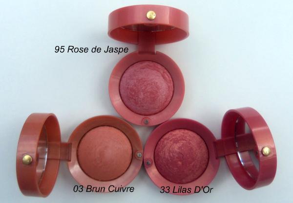 Bourjois blush in Brun Cuivre, Rose de Jaspe, Lilas d'Or