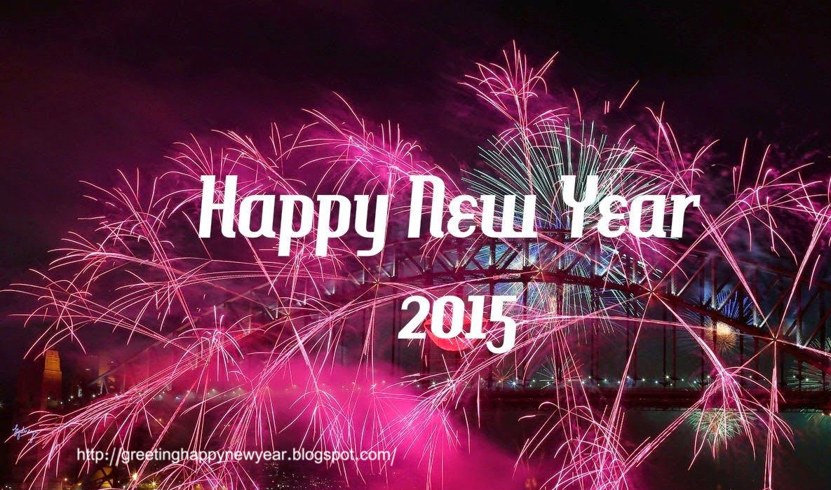 Happy New Year 2015 Greeting Fireworks - Free Download