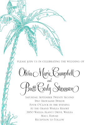 DIY Printable 5x7 Vintage Beach Wedding Invitation