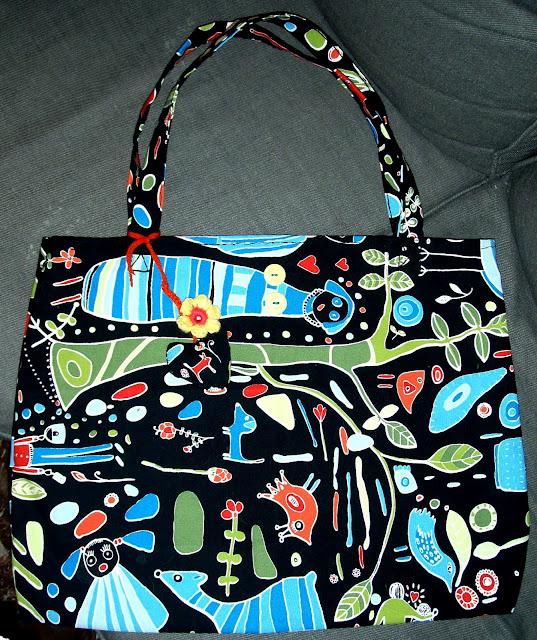 ikea fabric hand sewed bag