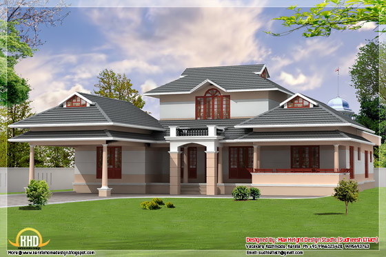 3 kerala style dream home elevations kerala home design for Kerala dream home photos