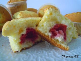 muffin con lamponi al profumo di menta