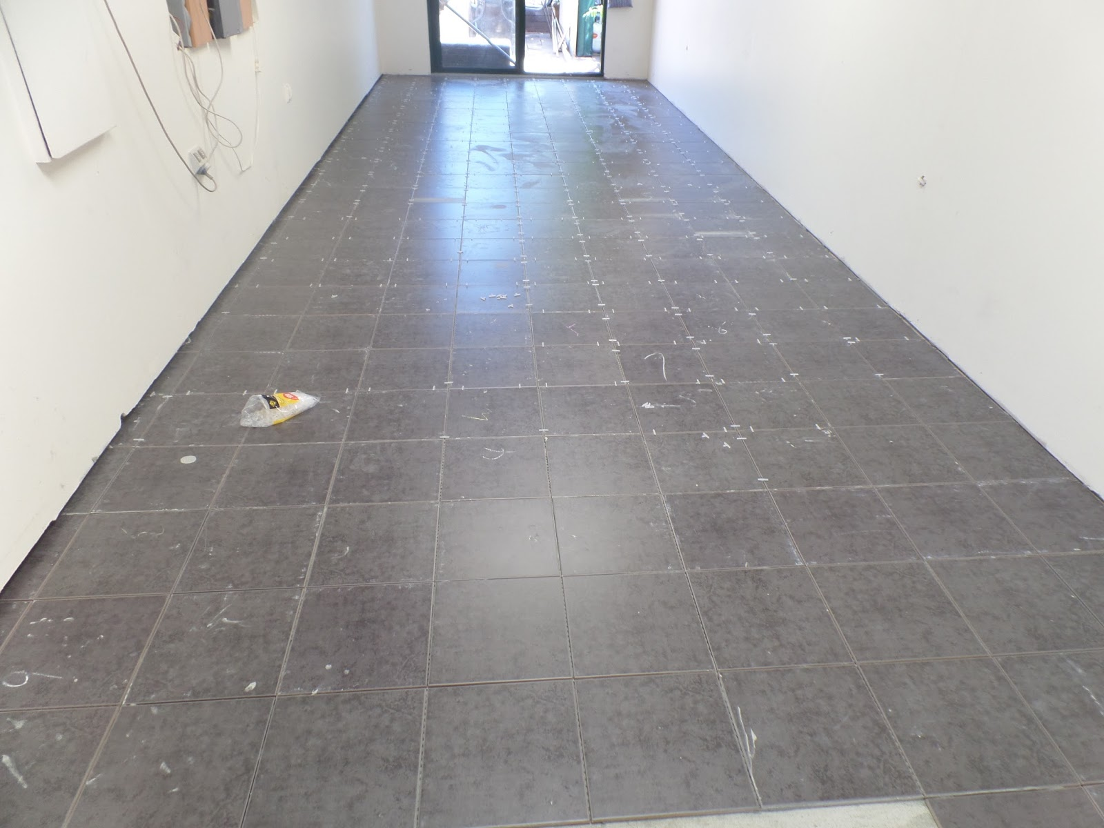 Kiwibird activity at aldinga beach at the end of the first day all tiles were fixed to the concrete floor next job grout the floor doublecrazyfo Image collections