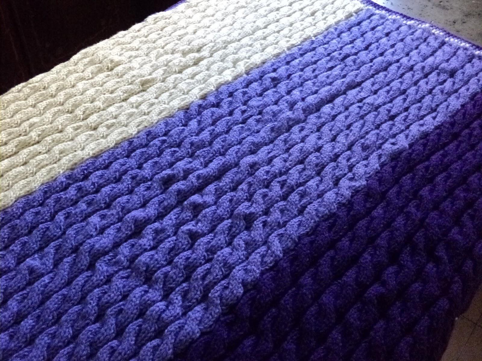 Puente de silicio mantas a dos agujas crochet en lana y - Mantas de punto a dos agujas ...