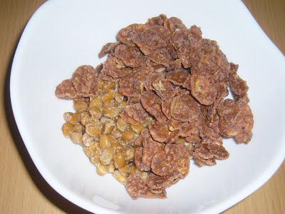 納豆にチョコフレーク