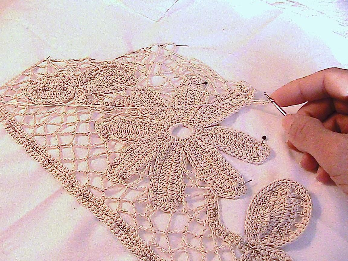 Kattys cosy cove making an irish crochet dress pinning motifs on pattern bankloansurffo Gallery