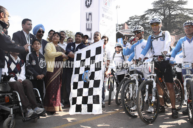 "MTB 2011 kicks off with a bangVandana Bhagra, ShimlaPhotos: by writerStated as India's toughest bicycling challenge by the riders themselves, the Seventh Edition of the Mountain Terrain Biking (MTB) Himachal saw the highest ever participation with 120 members which included six women riders. This year a total distance of 504 kilometers will be covered over a period of eight days beginning from Shimla, and covering towns/villages such as Bekhalti, Shilaru, Takkar, Bagipul, Kullu Sarahan, Kandagai, Kumarsain, Narkanda and back to Shimla with a day's rest at Kullu Sarahan on October 5. All these places are bound to capture your imagination as they offer splendid views of the mountains, virgin beauty and pristine surroundings, at its best during this season. MTB offers a perfect way to challenge yourself by riding through unexplored terrain, going through deep forests, pedaling your way uphill and downhill through thick vegetation giving you the thrilling experience of your life. Event organizers Himalayan Adventure Sports & Tourism Promotion Association (HASTPA) and Himachal Tourism together have brought this premier international mountain bicycling challenge to Himachal, as was stated by Manisha Nanda, Principal Secretary, Himachal Tourism and Civil Aviation during the flag off on October 1.An idea which took shape in 2005 with self investment and some help from the Himachal Tourism Department, MTB has grown manifold encompassing the passion and enthusiasm of many adventurers. The growing popularity of this eco-friendly adventure sports is capturing the attention of not only the Indians but participants from all over the world. Of late cycling is being seen as a healthy way of travelling, fitness as well as a lifestyle statement and most of all an ecological statement where like-minded people can be seen exchanging ideas. MTB is becoming become a world class platform to promote sporting talent and an effective way to establish Himachal as an environment friendly adventure destination. The innovative ideas adopted by MTB to showcase the talent as well as promoting tourism in Himachal by offering excellent terrain and international exposure will further attract new audiences. The organizers offer complete guidance and aid to the riders as fully equipped medical teams, government ambulances, a technical team and volunteer rescue official tag along during the event. Shirshir Mankarki from Dehradun and representing the Indian Army has been a part of the MTB since the start of the event. Participating in the team event with Naresh Barman, they are professional as well as experienced riders looking for a win. Abhishek Sarin from Bangalore has been participating since 2008 and says, ""This has been the toughest rides I have been on and every time I compete in this race I have a sense of accomplishment and always cherish these memories. The grueling seven-eight days adventure is just mind blowing as it doesn't get better than this. We are being challenged on one of the toughest terrains of the world as it involves hardcore cycling and a high level of mental fitness"". Age will little deter this young participant as Ryan Dkhar, only 21, was more than exited to be a part of this adventure. Despite the fact that his parents little approved of him participating but sponsorship from TI Cycles saw him from being a comfort rider to a professional rider this year. He says, ""During the race we face the elements in full glory as it is a mental as well as a physical challenge. Our full power and strength is on display and the courage with which we handle the course during the event"".With female participation increasing to six this year, Vanita Sahai from Chennai was raring to go and complete the adventure under the weekend category. More than 40 years old and a lucky hand at winning a quiz contest by BSA, she won the sponsorship to this event. Calling it as a lifetime memory her excitement was far from hidden. Mohit Sood, the organizer of this event says that 'Our aim is to increase the popularity of MTB in the Asian subcontinent and to effectively influence the perception of the riders towards cycling with a special focus on the growing youth. With mountain biking category being included in the Olympics next year our focus would be to send the best riders from our country by giving them exposure through such events"". He further added that the number of riders has grown from 34 in 2005 to highest ever with participants from different countries as well as the Indian army, Air Force, adventure clubs and university students who showcase their talent and endurance. ""With increasing number of sponsors and the growing cycling culture will see this event grow further but certain logistics such as unavailability of manpower and world class timing and tracking systems do hinder our progress,"" Sood adds.  ASHADEEP, a Shimla based NGO too has teamed up with MTB as was stated by its president Shushil Tanveer. He added that, ""a seven member team would accompany the riders and en route they would cover schools and villages spreading the message of environment preservation through its awareness campaign by performing street plays and a song directly conveying the messageA hardcore cycling challenge with equally enlivening participants who will see the next eight days of some great adventure as well as raise the spirits of those who wish to be a part of it in the coming future and look forward too."