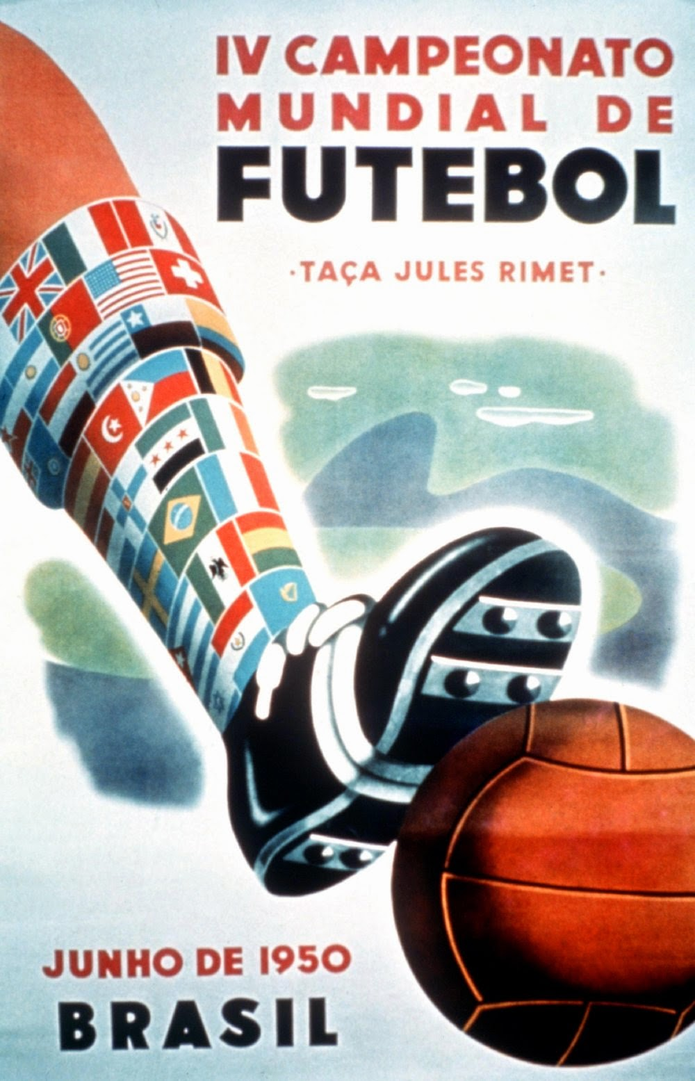Vintage World Cup Posters Brasil 1950