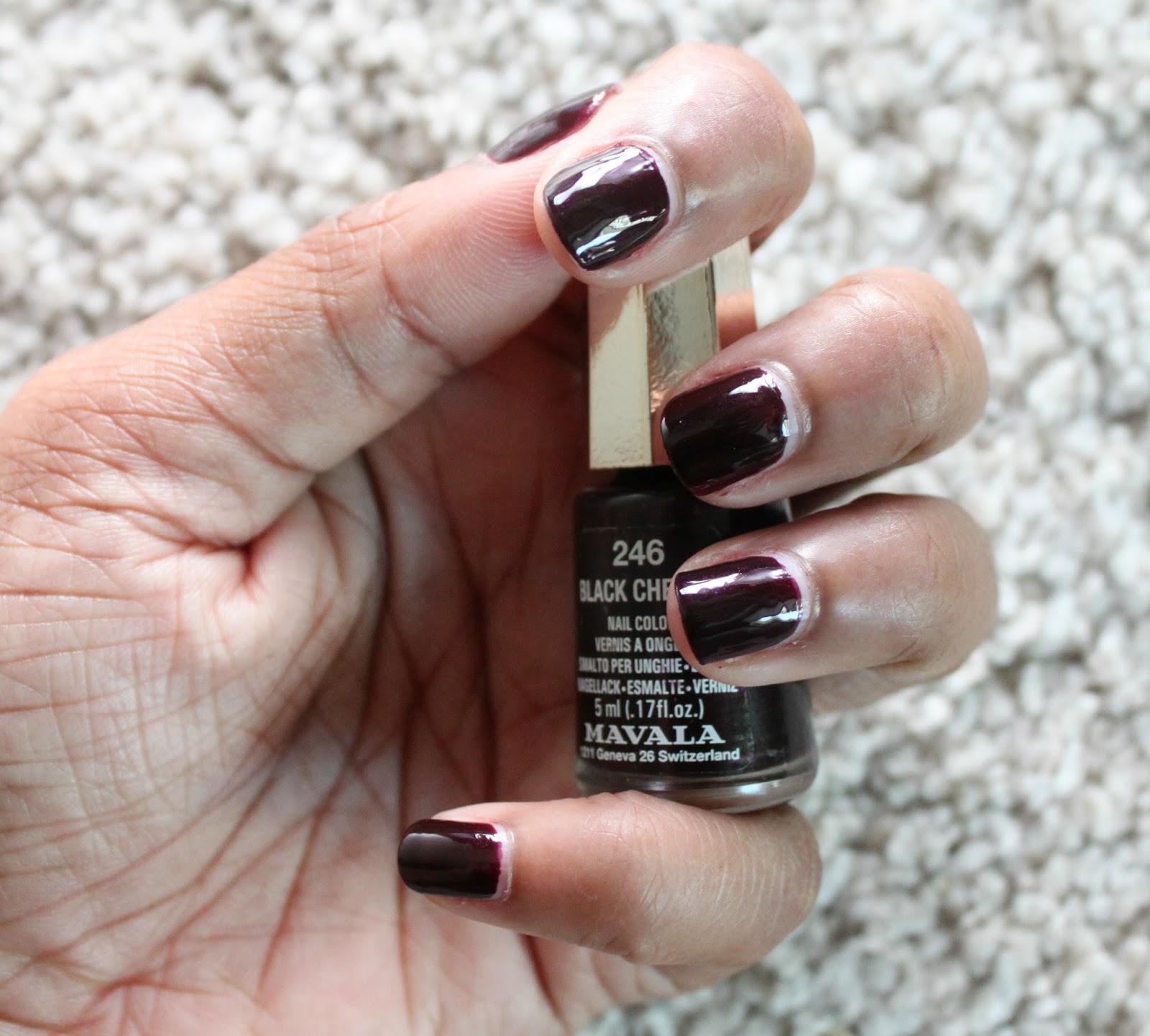 NOTD | MAVALA BLACK CHERRY | Makeup and Beauty Mayhem