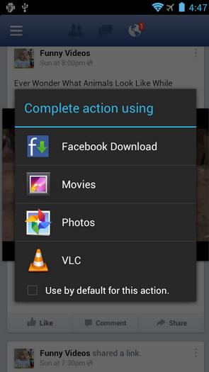 كيفية تحميل مقاطع الفيديو من تطبيق فيس بوك على أندرويد