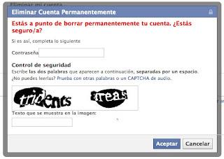 como elimino mi cuenta facebook para siempre