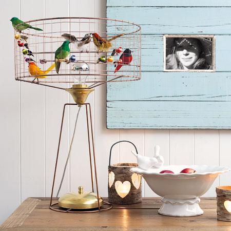 Domestic Sluttery: Cute or Creepy? Bird Cage Lamp