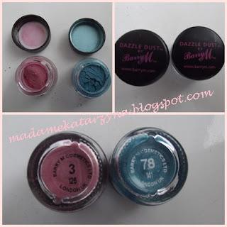 barry m pigmenty/ dekoracyjne pudry  do powiek /dazzle dust