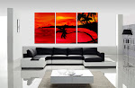 "Abstract Painting ""Tropical Sunset"""