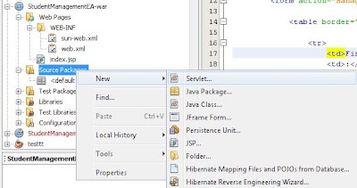 Create a Servlet in Netbeans