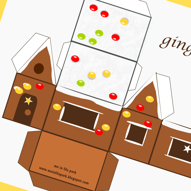 Paper gingerbread house template free printable gingerbread house