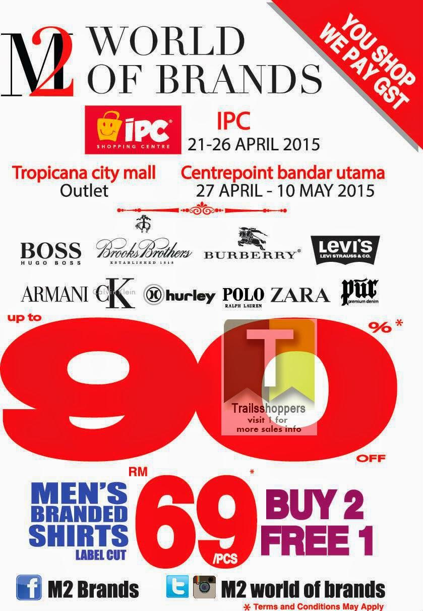 Malaysia Sale M2 Worlds Of Brands zara hugo burberry armani ralph lauren