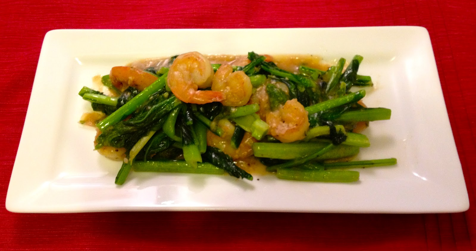 Poppin' kitchen: Stir-fried Japanese mustard spinach and shrimp with ...