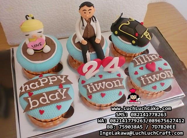 Cupcake Dokter dan Mobil Daerah Surabaya - Sidoarjo