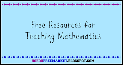Free Resources for Teaching Mathematics - hsedufreemarket.blogspot.com