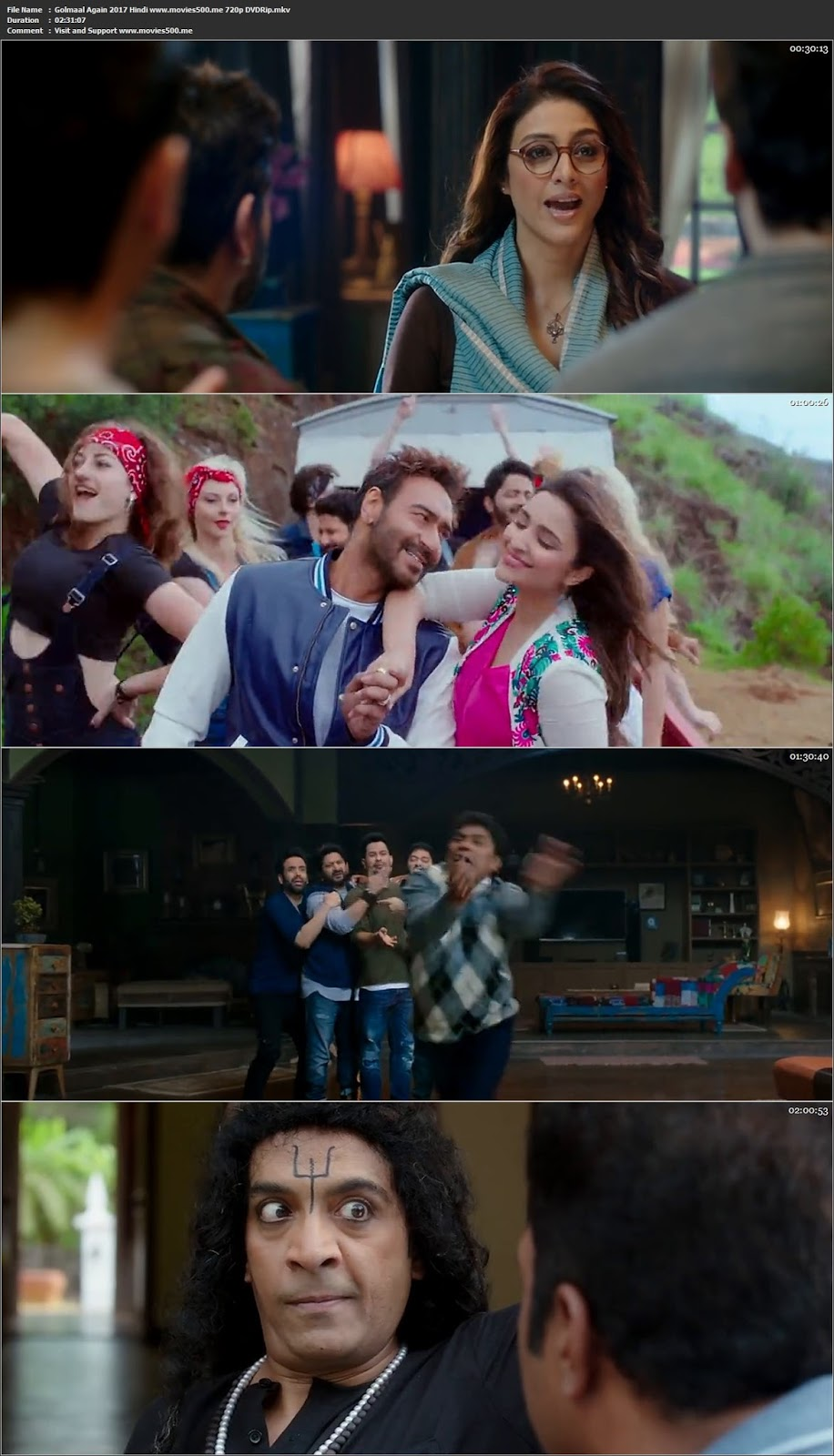 Golmaal Again 2017 Hindi Full Movie DVDRip 720p at softwaresonly.com