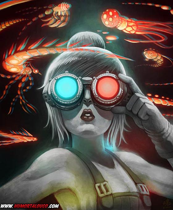 18 animações do mundo dos vídeos games e desenhos - Óculos 3D