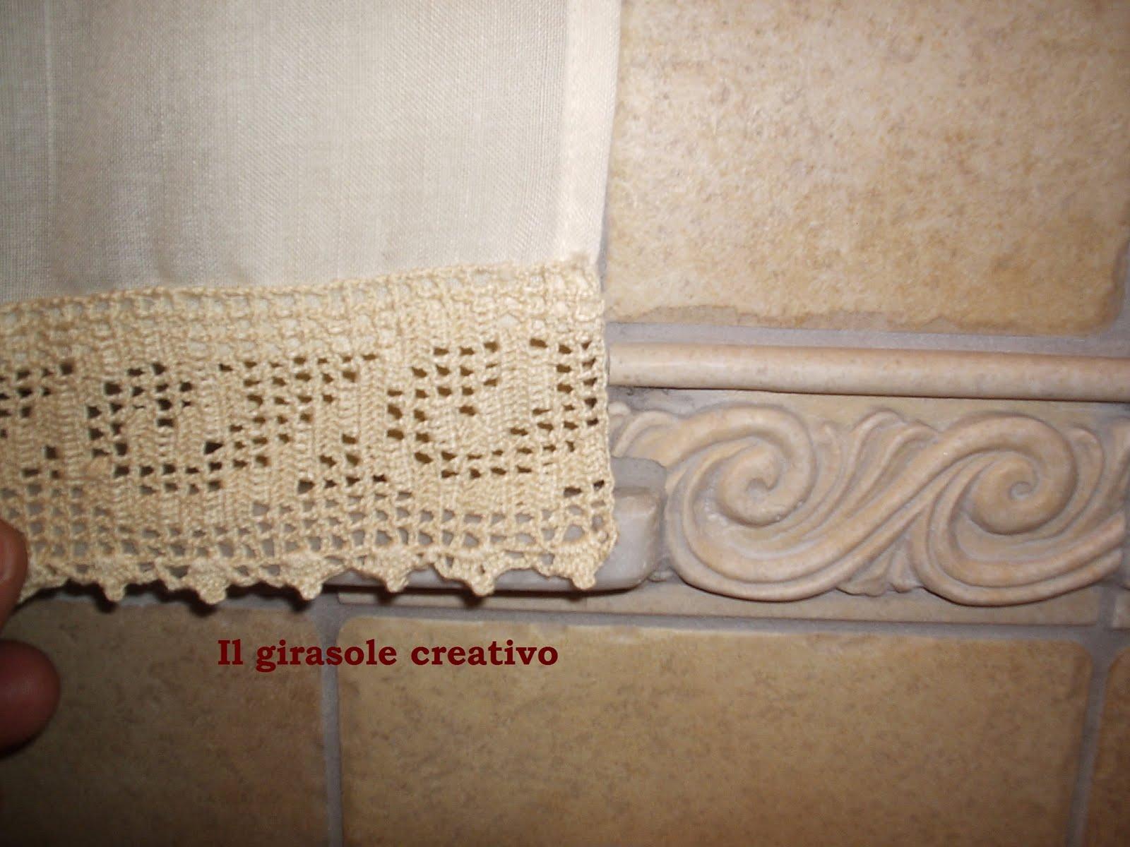 Bordure All Uncinetto Per Tende Da Bagno Art Lavetta In Spugna