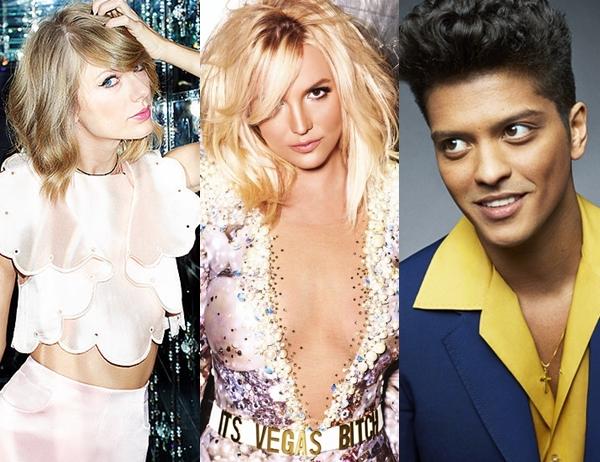 Britney Spears, Bruno Mars y Taylor Swift se presentarán juntos en el Super Bowl