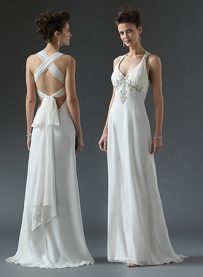 Wedding gown simple criss cross back wedding dresses gown for Cross back wedding dress