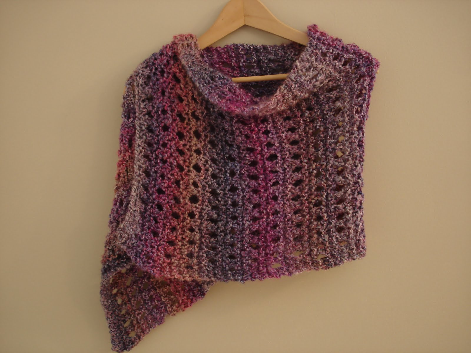 Knitted Shawl Patterns Free : Fiber Flux: Free Knitting Pattern...A Peaceful Shawl!