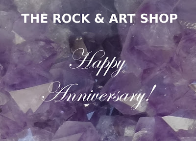 The Rock and Art Shop, downtown, Bangor,anniversary, amethyst, geode
