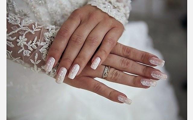 Лак-гель дизайн для невесты