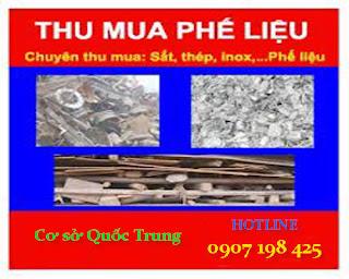 Chuyên thu mua phế liệu đồng, nhôm, sắt vụn, inox...