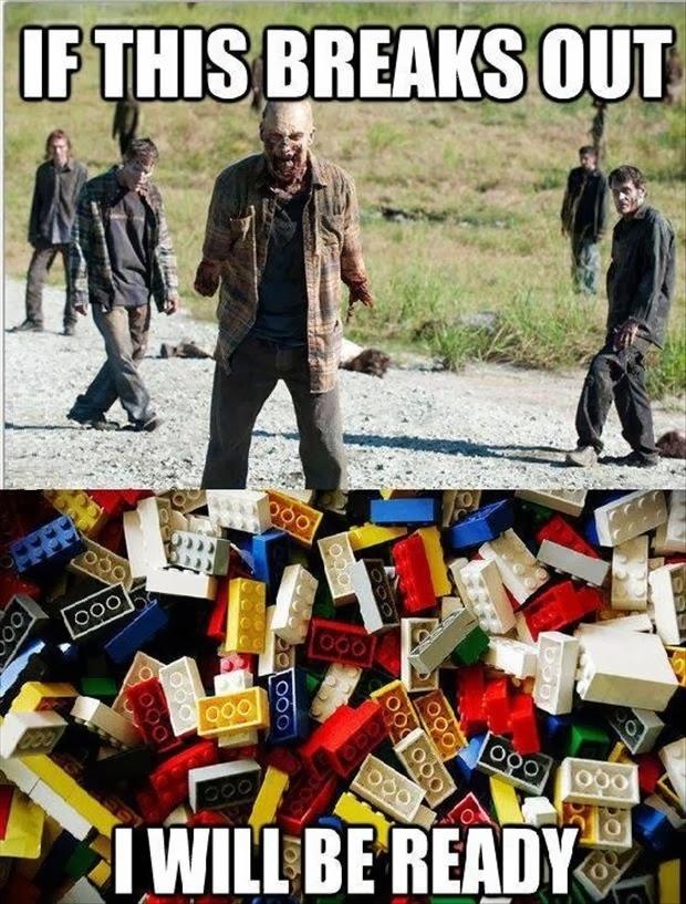 Zombie Outbreak Lego meme