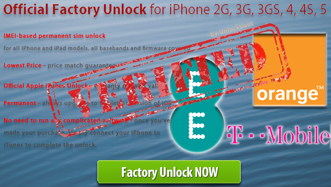 Unlock Orange UK iPhone 5
