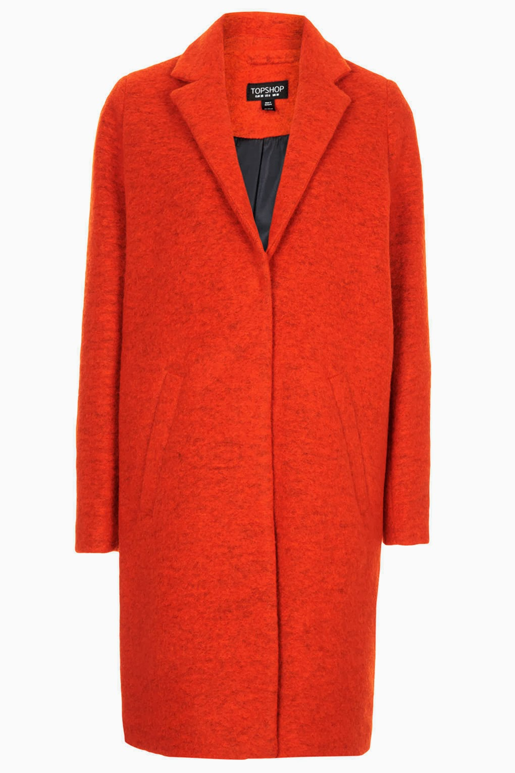 orange women's coat