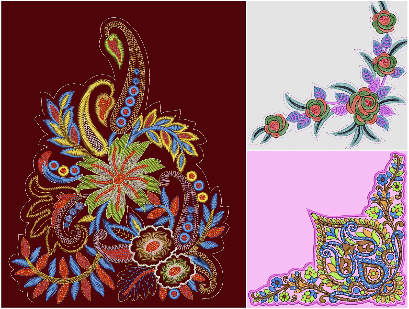 Embroidery Designs For Sarees Free Download Images