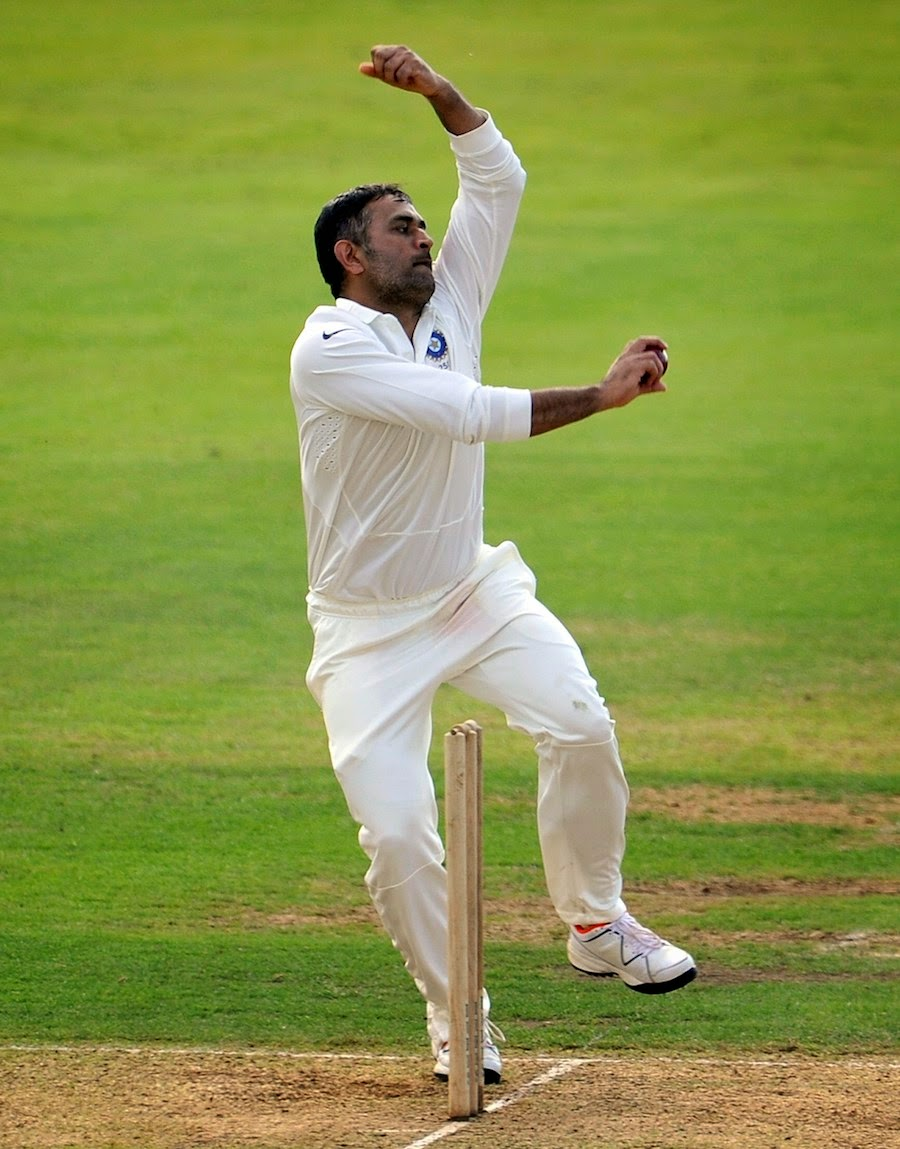 MS Dhoni-has-bowl-Derbyshire-v-Indians-India-Tour-England-2014